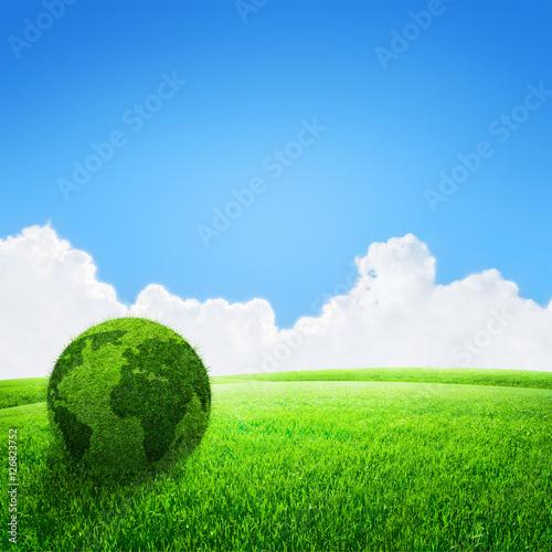 Staande foto Heuvel globe