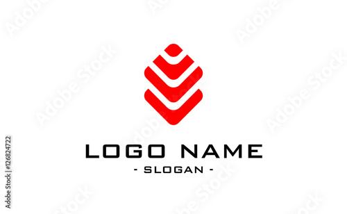 Photo  abstract logo flat