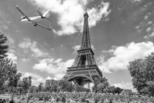 Plane Over Eiffel Tower