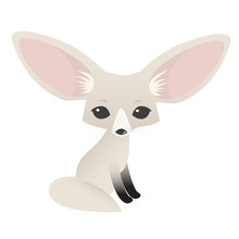 Small Cute Fennec With Big Ear...