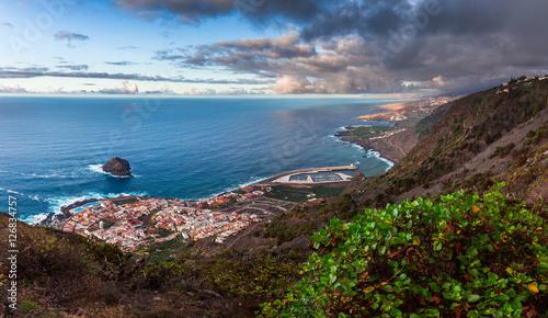 Tuinposter Canarische Eilanden Aerial view of Roque de Garachico and Garachico town, Tenerife, Canary Islands, Spain