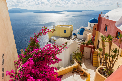 Architecture in island Santorini
