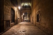 Street In Gothic Quarter Of Ba...
