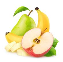 Isolated Apple, Banana And Pea...
