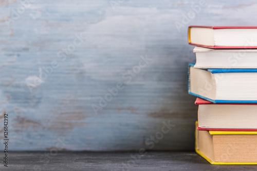 Foto Bücher gestapelt