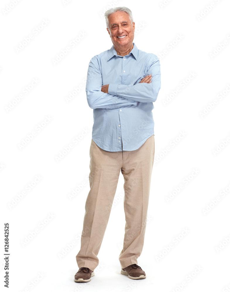Fototapeta Smiling senior man.
