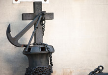 Cross And Anchor On A Tomb