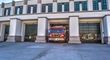 Fire Truck Exits The Parking G...