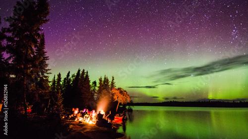Tuinposter Noorderlicht Aurora Borealis Canada