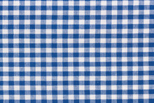 Blue Checkered Rural Tableclot...