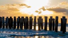 Beautiful Sunset Over Groynes ...