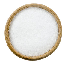 Sea Salt In A Cup Isolated
