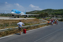 Skiathos Airport And People Watching