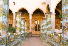 The Cloister Of Santa Chiara Monastery, Naples, Italy