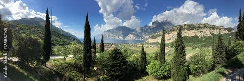 Poster de jardin Kaki Gardasee-Panorama