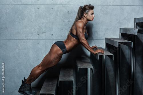 Woman brutal athlete. Tapéta, Fotótapéta
