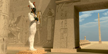 Osiris Statue In Pharaoh Templ...