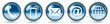 Leinwanddruck Bild - Contact icons