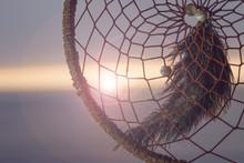 Sunset Through A Dreamcatcher