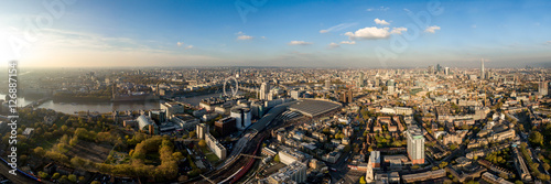 Canvas Print The New London Skyline Aerial Panorama View