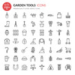 Garden Tool Icons , Thin Line and Pixel Perfect Icons