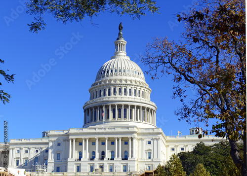 Photo  The Capitol Building in Washington DC, capital of the United States of America