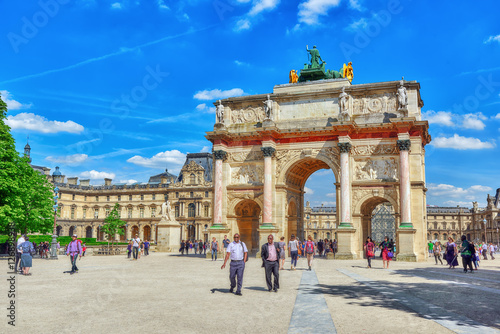 Photographie  PARIS, FRANCE - JULY 06, 2016 : Arc de Triomphe du Carrousel (18