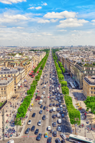 Staande foto Parijs PARIS, FRANCE - JULY 06, 2016 : Beautiful panoramic view of Pari