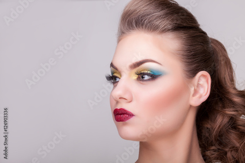Plakát  Beautiful glamour girl with professional make up