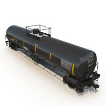 Railroad Tank Car On White. 3D Illustration
