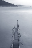 wooden jetty at dusk - 126908586