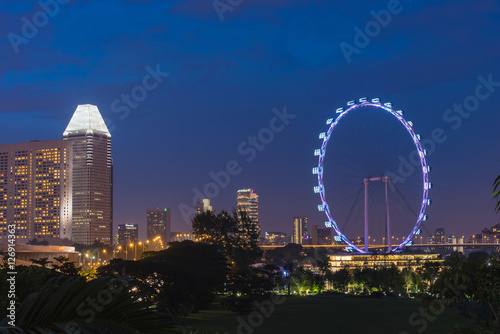 Photo  Singapore City at Night