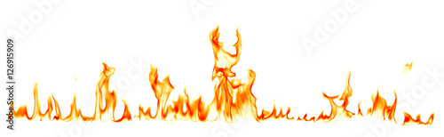 Photo Stands Fire / Flame Fire flames isolated on white background