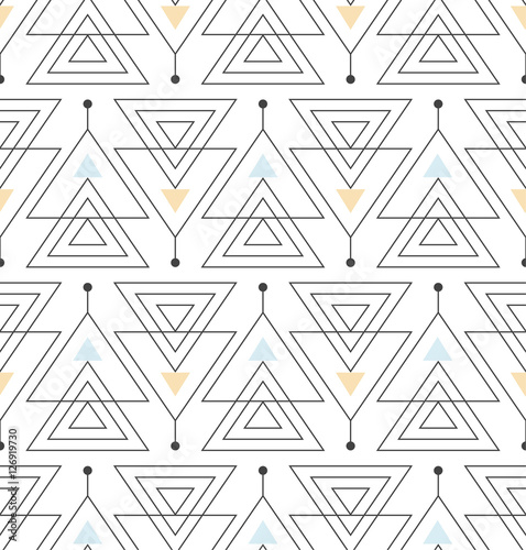 fototapeta na szkło seamless pattern with abstract minimalistic ornament