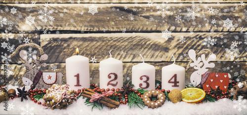 Foto-Doppelrollo - erster Advent Gesteck (von drubig-photo)