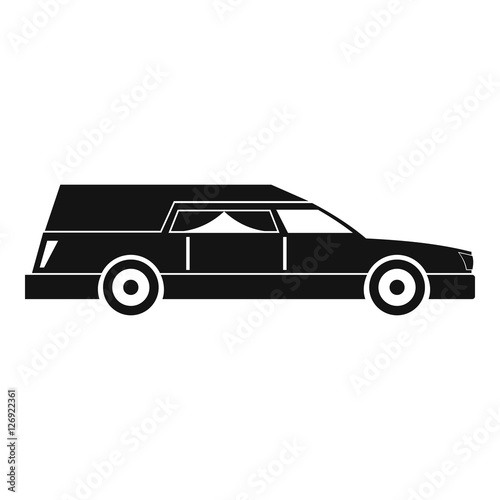 Hearse icon. Simple illustration of hearse vector icon for web Canvas Print