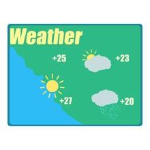 Weather Forecast Icon. Cartoon...
