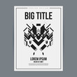 Poster design template with abstract geometric element. Useful for book and magazine covers and advertizing.
