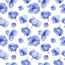 Blue Seamless Watercolor Hydra...