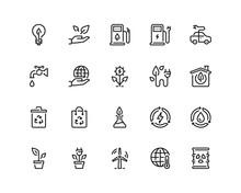 Ecology Outline Icon Set