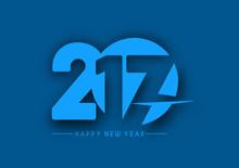 Happy New Year 2017 Holiday Vector