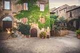 Fototapeta Uliczki - Ancient streets of the dying town in Italy, Civita di Bagnoregio