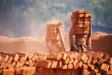 Workers In A Brick Factory