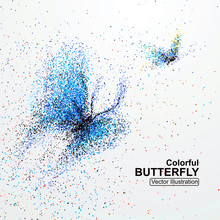 Colorful Butterfly Particles, ...