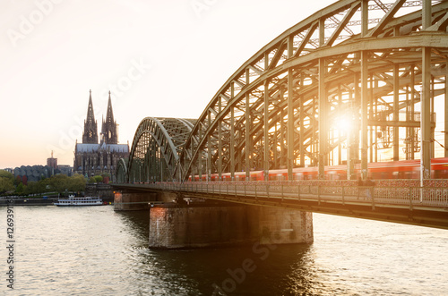 Image of Cologne with Cologne Cathedral, Germany Fototapet