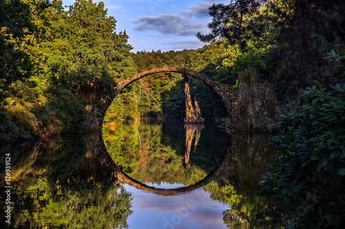 Fotografie, Obraz  Rakotzbrucke bridge in Kromlau-Germany