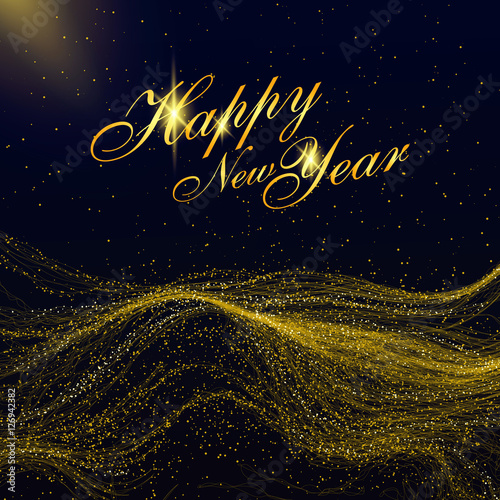 particles of gold mountains can be used as the background of the new year