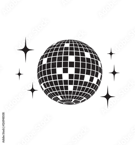 Fotografía Disco ball Vector icon