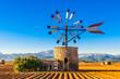 canvas print picture - Traditionelle Windmühle auf Mallorca