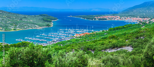 Deurstickers Stad aan het water Wonderful romantic summer afternoon landscape panorama coastline
